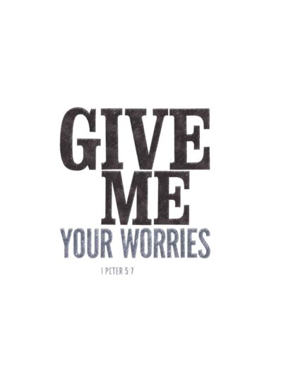 give me your worries lettering