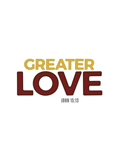 greater love lettering