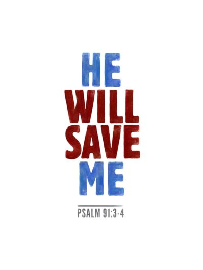 he will save me lettering