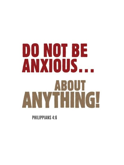 do not be anxious about anything lettering