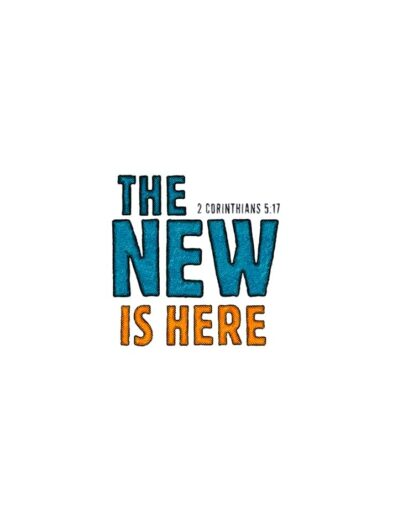 the new is here lettering